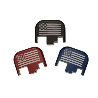 S&W M&P Full Size Rear Slide Plate - USA Flag