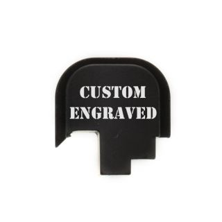 S&W Shield - Rear Slide Plate - Custom Engraved - Anodized Black