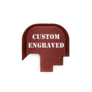S&W Shield - Rear Slide Plate - Custom Engraved - Anodized Red