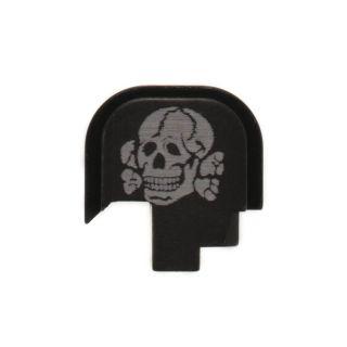 S&W Shield - Rear Slide Plate - Death's Head - Anodized Black