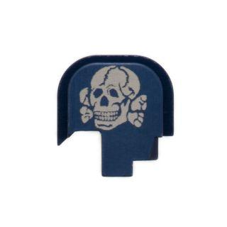 S&W Shield - Rear Slide Plate - Death's Head - Anodized Blue