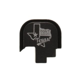 S&W Shield - Rear Slide Plate - Don't Mess with Texas - Anodized Black