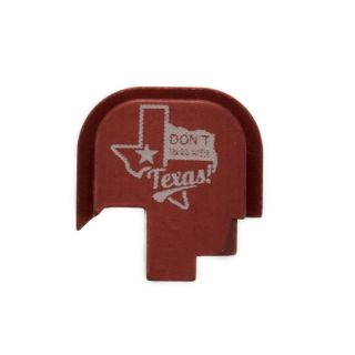 S&W Shield - Rear Slide Plate - Don't Mess with Texas - Anodized Red