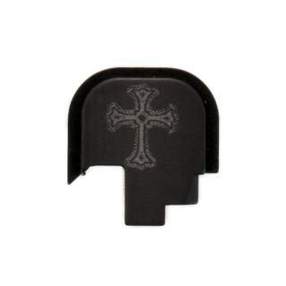S&W Shield - Rear Slide Plate - Holy Cross - Anodized Black