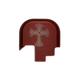 S&W Shield - Rear Slide Plate - Holy Cross - Anodized Red