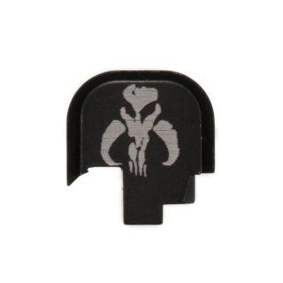 S&W Shield - Rear Slide Plate - Mandalorian Skull - Anodized Black