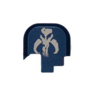 S&W Shield - Rear Slide Plate - Mandalorian Skull - Anodized Blue