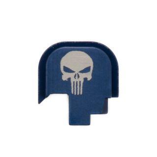 S&W Shield - Rear Slide Plate - Punisher Skull - Anodized Blue