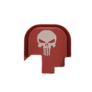S&W Shield - Rear Slide Plate - Punisher Skull - Anodized Red
