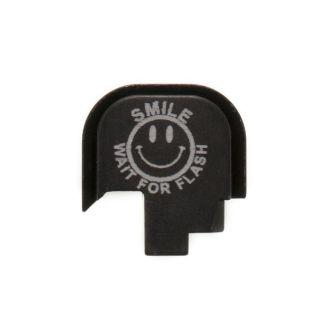 S&W Shield - Rear Slide Plate - SMILE! - Anodized Black