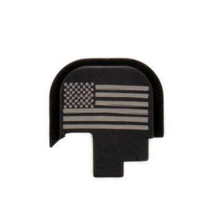S&W Shield - Rear Slide Plate - USA Flag - Anodized Black