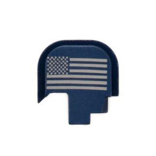 S&W Shield - Rear Slide Plate - USA Flag - Anodized Blue