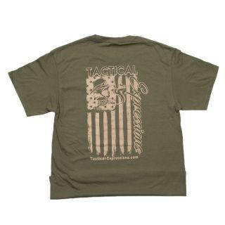 Tactical T-Shirt - Mechanic Flag - ODG