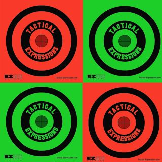 Mini Sticker Targets - Red and Green