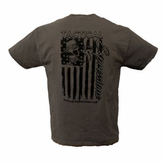 Tactical T-Shirt - Mechanic Flag - Gray