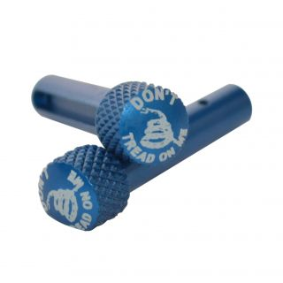 AR-15 Extended Takedown Pins - Don't Tread On Me-Blue