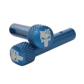 AR-15 Extended Takedown Pins - Punisher Girl - Anodized Blue