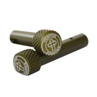 AR-15 Extended Takedown Pins - Veritas Aequitas - Anodized Olive Drab Green