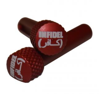 AR-15 Extended Takedown Pins - Infidel - Anodized Red