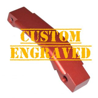 Enhanced Trigger Guard - Custom Engraved - Anodized Red
