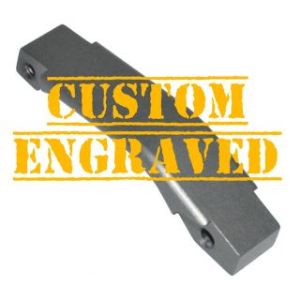 Enhanced Trigger Guard - Custom Engraved - Anodized Gray