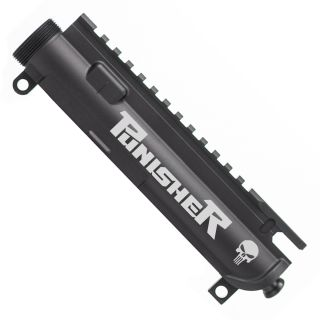 Aero Precision AR-15 Stripped Upper Receiver - The Punisher - Anodized Black