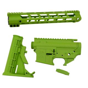 AR-15 Builder Set - Zombie Green - Light Blood Splatter