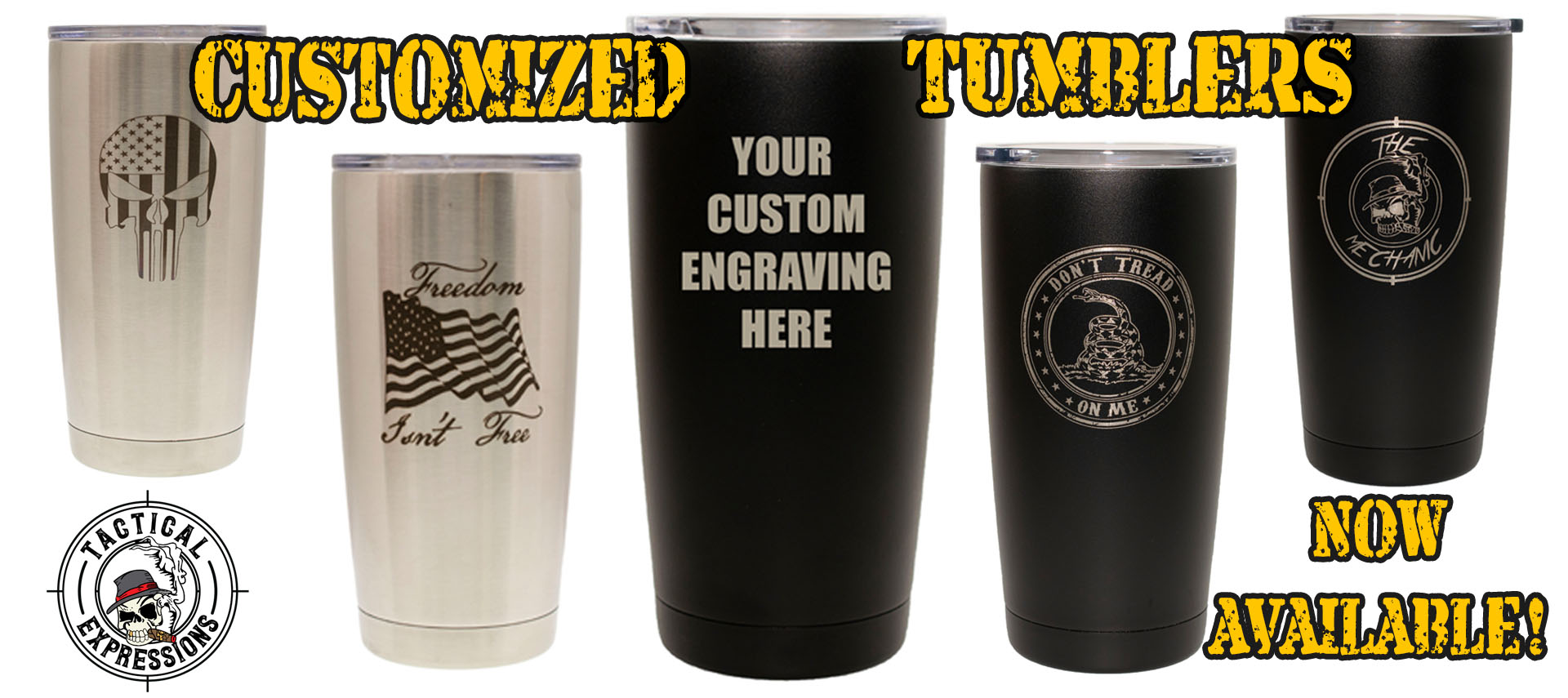 Tumblers Now Available